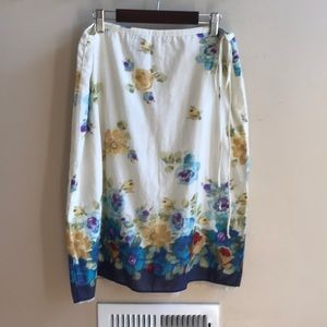 Lucky Brand Floral Skirt - Size 10